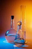 Chemical glassware — Stock Photo