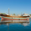 Wooden old Arab trading ship - Stock Photo
