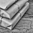 Pile parcel wrapped — Stock Photo #18413019
