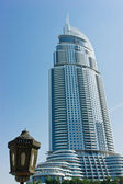View of Hotel The Address in The Dubai Mall — Stock Photo