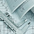 Twisted technical drawing — Stock Photo #18477885