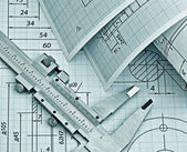 Twisted technical drawing — Stockfoto