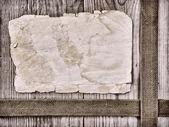 复古的纸页上旧木板 — 图库照片