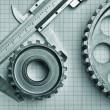 Gears and caliper — Stock Photo #18916767