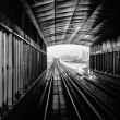 Subway tracks in the united arab emirates - Zdjcie stockowe