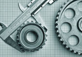 Gears and caliper — Stock Photo