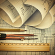 Twisted technical drawing — Stock Photo #19416751