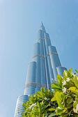 Burj Khalifa - the world's tallest tower at Downtown Burj Dubai — Stock Photo
