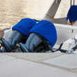 Stock Photo: Two outboard motor yacht