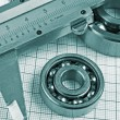 Calliper and a bearing — Stock Photo