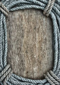 Picture frame of rope — Stock Photo