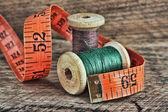 Still life of spools of thread — Stock Photo
