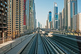 Subway tracks in the united arab emirates — Foto de Stock