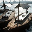 Traditional Abra ferries at the creek in Dubai, United Arab Emir — Stock Photo #21435333