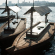 Traditional Abra ferries at the creek in Dubai, United Arab Emir - Photo