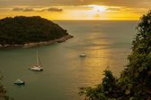 Sunset on the Andaman Sea, Phuket viewpoint Thailand — Stock Photo