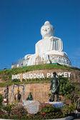La statue en marbre du grand bouddha à phuket — Photo