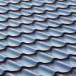 Blue  metal tile roof, background — Stockfoto