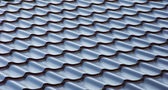 Blue metal tile roof, background — Stock Photo