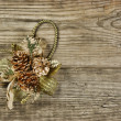 Christmas decoration on the old wooden background - Photo