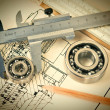 Mechanical scheme and bearing — Stock Photo #22192281