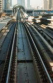Metro v dubaji, spojené arabské emiráty — Stock fotografie