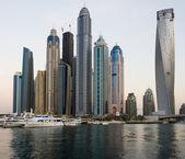 Dubai Marina at sunset — Stock Photo