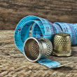 Two thimble and measuring tape — Stock Photo #22752713