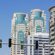 Modern buildings in Dubai Marina, on November 12, 2012, Dubai, UAE. In the city of artificial channel length of 3 kilometers along the Persian Gulf. — Stock Photo