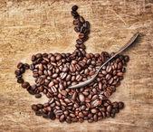 Foto di chicchi di caffè — Foto Stock