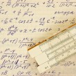 Page of old vintage paper with calculation of mathematic — Stock Photo #23012100