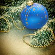 Christmas decoration on Christmas background - Stock fotografie