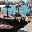 Traditional Abra ferries at the creek in Dubai, United Arab Emir — Stock Photo #23321956