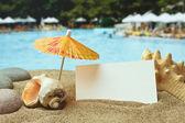 Kumsalda bir tropik sahil — Stok fotoğraf