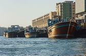 Statek w port said w dubai, zjednoczone emiraty arabskie — Zdjęcie stockowe