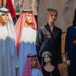 Traditional Arabic clothing on a mannequin in east souk - Stockfoto