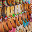 Traditional Arabic shoes in east souk - Stock Photo