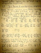 Page of old textured vintage paper with the calculation of the h — Stock Photo