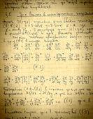 Strona starych teksturowanej tło wzór papieru z obliczania h — Zdjęcie stockowe