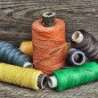 Still life of spools of thread — Stock Photo #23548505