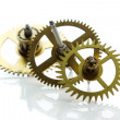 Clockwork gears isolated on white — Stock Photo #23999209