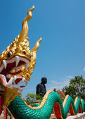 Statue of an dragon in southern Thailand — Stock Photo