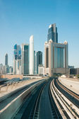 Subway tracks metro in the united arab emirates — Stock Photo