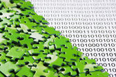Puzzles on a binary code — Stock Photo
