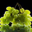 Bunch of grapes isolated on black background — Stock Photo
