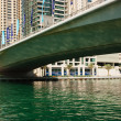 Bridge on the Gulf in Dubai Marina - Stock Photo