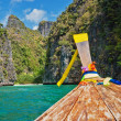 Stock Photo: Traditional longtail boats in Phi-phi Leh island