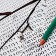 Glasses and  pencil — Stockfoto