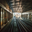 Stock Photo: Subway tracks in united arab emirates