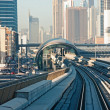 Subway tracks in the united arab emirates - ストック写真